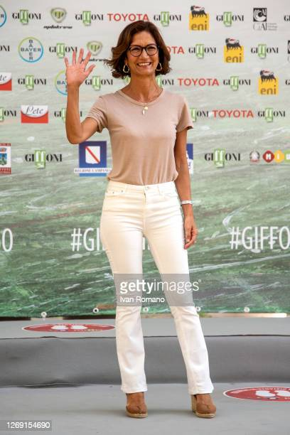 Mariastella Gelmini attends the photocall for the 50th edition of the Giffoni Film Festival on August 27, 2020 in Giffoni Valle Piana, Italy.