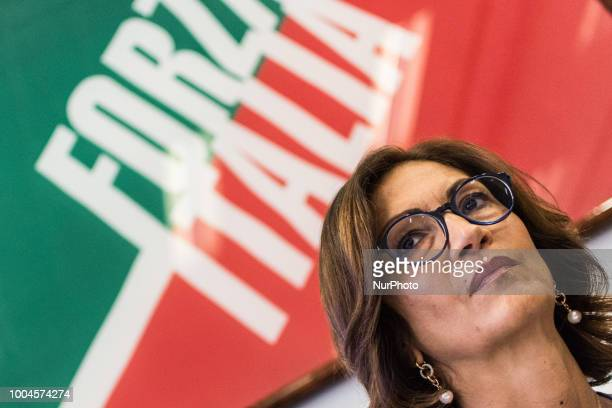 Mariastella Gelmini during the Press conference of Forza Italia to illustrate its proposals for profoundly correcting the dignity decree .on July 24,...