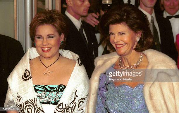 MariaTeresa of Luxembourg with Queen Silvia of Sweden