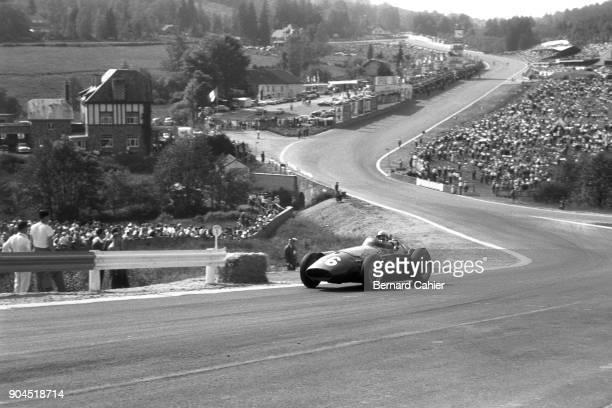 MariaTheresa De Filippis Maserati 250F Grand Prix of Belgium Circuit de SpaFrancorchamps 15 June 1958 Woman race driver MariaTheresa de Fillippis...