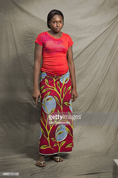 Mariatou Yacouba 18 years old from Niger poses during SAFEM Salon international de l'artisanat pour la femme trade fair on December 07 2013 in Niamey...