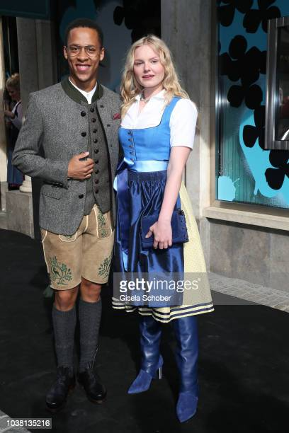 MariaVictoria Dragus and Jerry Hoffmann during the 'Fruehstueck bei Tiffany' at Tiffany Store ahead of the Oktoberfest on September 22 2018 in Munich...