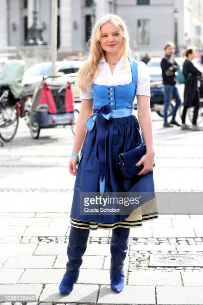 MariaVictoria Dragus during the 'Fruehstueck bei Tiffany' at Tiffany Store ahead of the Oktoberfest on September 22 2018 in Munich Germany