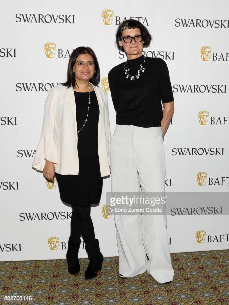 Mariayah Kaderbhai and costume designer Alexandra Byrne pose after her Masterclass on day four of the 14th annual Dubai International Film Festival...