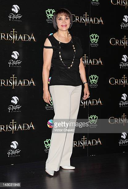 "Maribel Fernandez ""La Pelangocha"" attends the For Greater Glory Mexico City Premiere at Cinemex Antara Polanco on April 17 2012 in Mexico City Mexico"