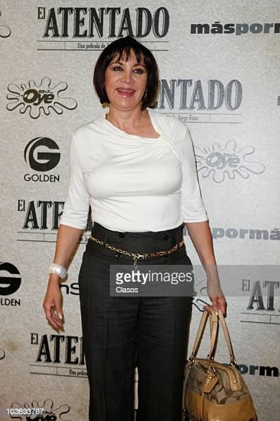 Maribel Fernandez La Pelangocha poses for a photo at the red carpet of the premiere of the movie El Atentado at Teatro Metropolitan on August 24 2010...