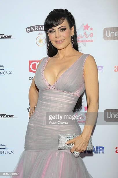 Maribel Guardia arrives at Premios TV y Novelas 2015 at Televisa San Angel on March 9 2015 in Mexico City Mexico