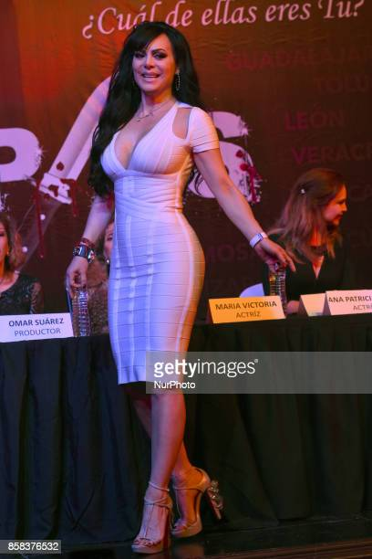 Maribel Guardia attends at 'Arpias' press conference to announce the launching of the Theater play on October 06 2017 in Mexico City Mexico