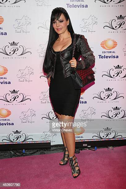 Maribel Guardia attends Stars The extensions Experts Salon 15th anniversary at Foro Masaryk on July 23 2014 in Mexico City Mexico