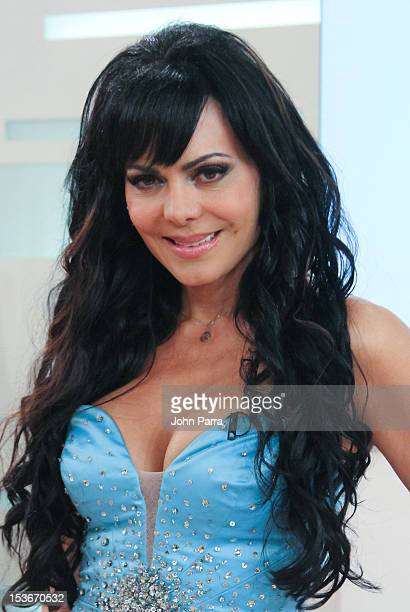 Maribel Guardia backstage during Univisions Mira Quien Baila on October 6 2012 in Miami Florida