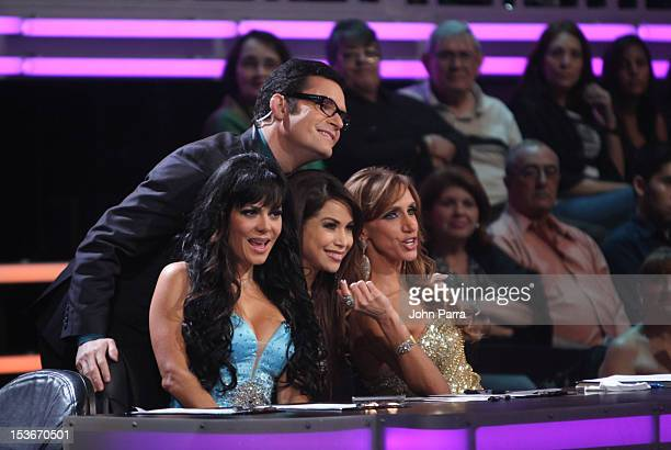 Maribel Guardia Horacio Villalobos Bianca Marroquin and Lili Estefan attend Univisions Mira Quien Baila on October 6 2012 in Miami Florida