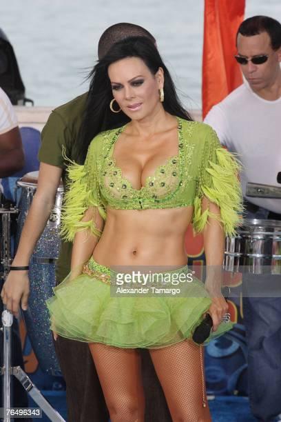Maribel Guardia poses during Escandalo TV's Reventon del Dia de Trabajo on September 3 2007 in Miami Florida
