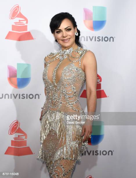 Maribel Guardia poses in the press room during The 18th Annual Latin Grammy Awards at MGM Grand Garden Arena on November 16 2017 in Las Vegas Nevada