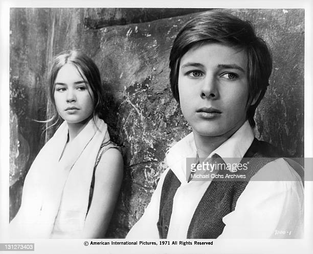 Maribel Martin looking at John Moulder Brown in a scene from the film 'The House That Screamed' 1971