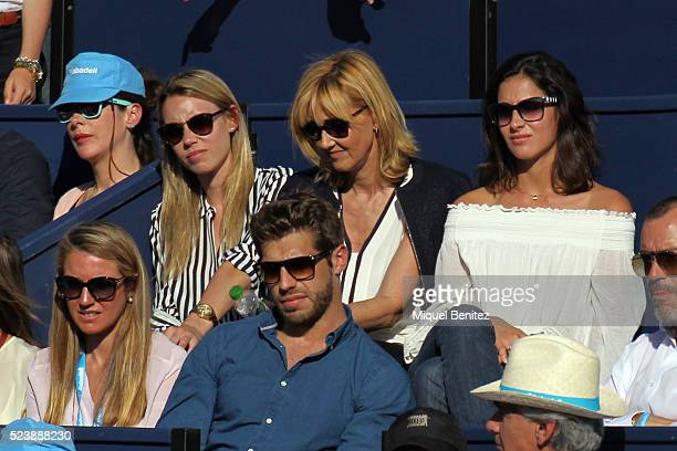 Maribel Nadal Parera Ana Maria Parera and Xisca Perello attend the final match between Rafael Nadal and Kei Nishikori during the Barcelona Open Banc...