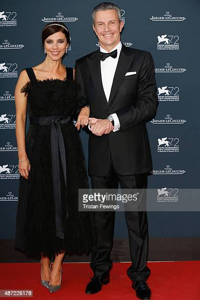 Maribel Verdu and JaegerLeCoultre Ceo Daniel Riedo attend the JaegerLeCoultre gala event celebrating 10 years of partnership with La Mostra...