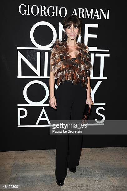 Maribel Verdu attends the Giorgio Armani Prive show as part of Paris Fashion Week Haute Couture Spring/Summer 2014 on January 21 2014 in Paris France