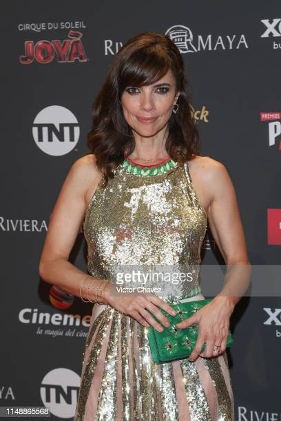 Maribel Verdu attends the red carpet of the Premios Platino 2019 at Occidental Xcaret Hotel on May 12 2019 in Playa del Carmen Mexico