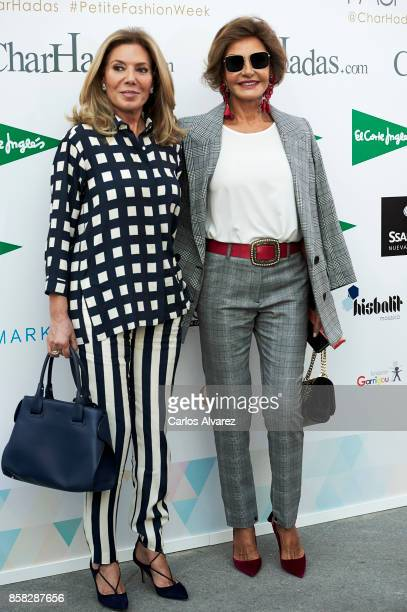 Maribel Yebenes and Nati Abascal attend 'The Petite Fashion Week' at the Cibeles Palace on October 6 2017 in Madrid Spain