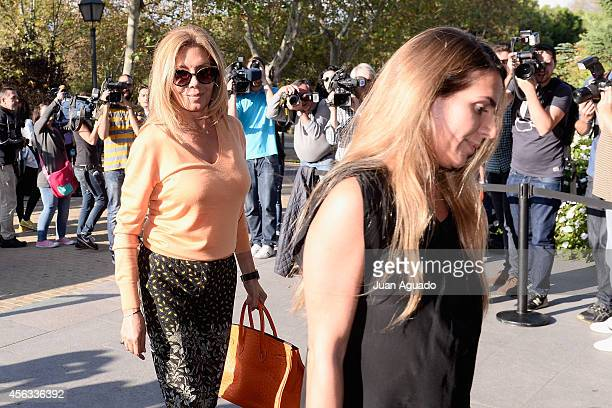 Maribel Yebenes attends Parque San Isidro Cemetery following the death of Miguel Boyer on September 29 2014 in Madrid Spain Spanish politician Miguel...