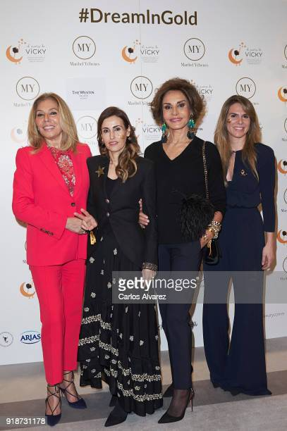 Maribel Yebenes Laura Garcia Marcos Naty Abascal and Myriam Yebenes attend 'Dream In Gold' presentation campaign at Palace Hotel on February 15 2018...