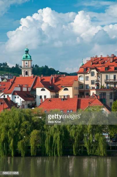 Maribor on the Drava River in Slovenia