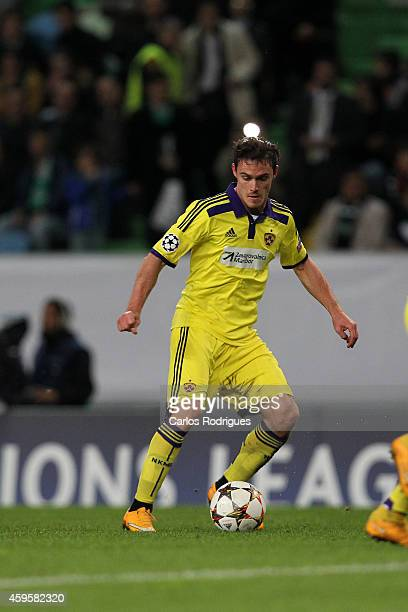 Maribor's defender Ales Mejac during the UEFA Champions League match between Sporting Clube de Portugal and NK Maribor on November 25 2014 in Lisbon...