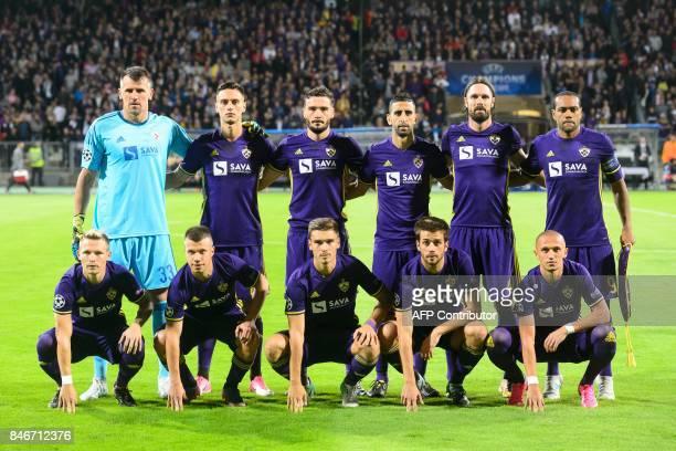 NK Maribor's players Jasmin Handanovic Gregor Bajde Aleksander Rajcevic Marwan Kabha Marko Suler Marcos Tavares Martin Milec Damjan Bohar Blaz...