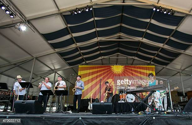 Marica Ball performs during 2015 New Orleans Jazz Heritage Festival Day 6 at Fair Grounds Race Course on May 2 2015 in New Orleans Louisiana