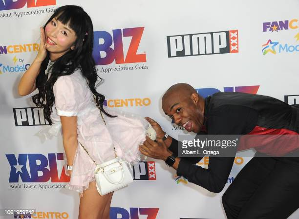Marica Hase and guest arrive for XBIZ Rise Adult Talent Appreciation Gala held at Exchange LA on November 14 2018 in Los Angeles California