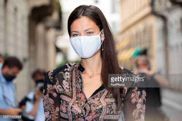 Marica Pellegrinelli attends the Etro fashion show during Milan Digital Fashion Week on July 15 2020 in Milan Italy