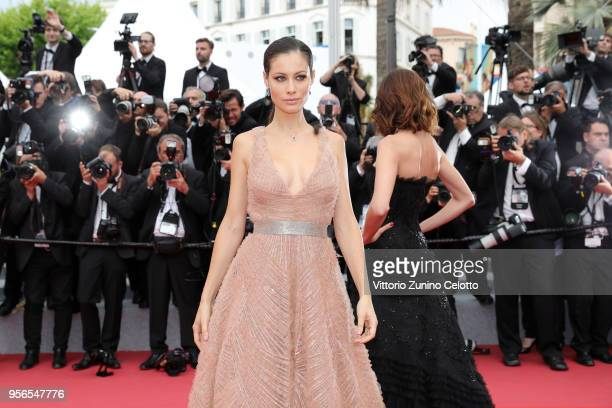 Marica Pellegrinelli attends the screening of Yomeddine during the 71st annual Cannes Film Festival at Palais des Festivals on May 9 2018 in Cannes...