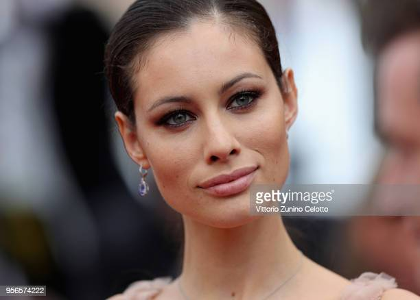 """Marica Pellegrinelli attends the screening of """"Yomeddine"""" during the 71st annual Cannes Film Festival at Palais des Festivals on May 9, 2018 in..."""