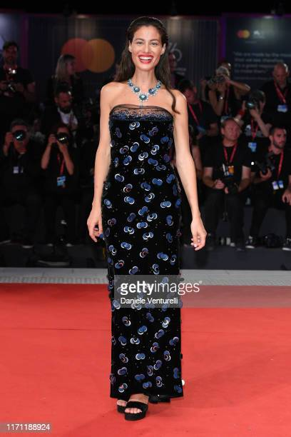 Marica Pellegrinelli walks the red carpet ahead of the Seberg screening during the 76th Venice Film Festival at Sala Grande on August 30 2019 in...
