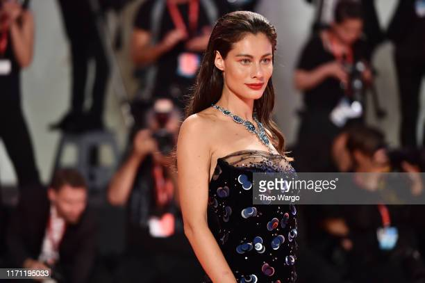 """Marica Pellegrinelli walks the red carpet ahead of the """"Seberg"""" screening during the 76th Venice Film Festival at Sala Grande on August 30, 2019 in..."""