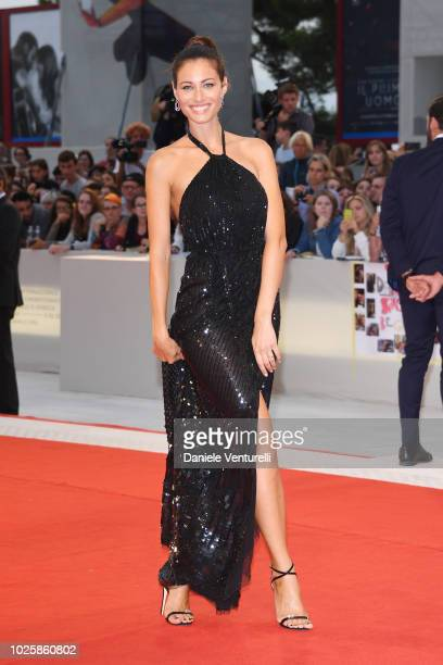 Marica Pellegrinelli walks the red carpet ahead of the 'Suspiria' screening during the 75th Venice Film Festival at Sala Grande on September 1 2018...