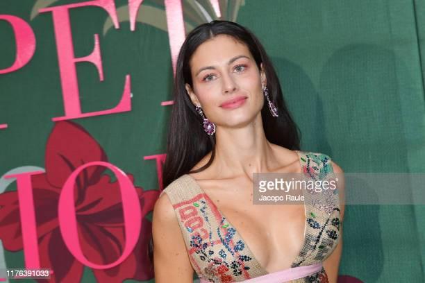 Marica Pellegrinelli, wearing Gilberto Calzolari, attends the Green Carpet Fashion Awards during the Milan Fashion Week Spring/Summer 2020 on...