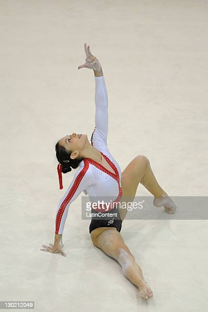 Maricela Cantu of Mexico in action during the Artistic Gymnastic in the 2011 XVI Pan American Games at Nissan Complex Gymnastics on October 24 2011...
