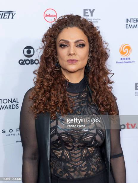 Maricela Gonzalez attends the 46th Annual International Emmy Awards at New York Hilton