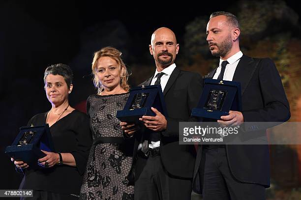 Maricetta Lombardo Dimitri Capuani Guest and Massimo Cantini Parrini receive the Best live sound Award the Best scenography Award and the Best...