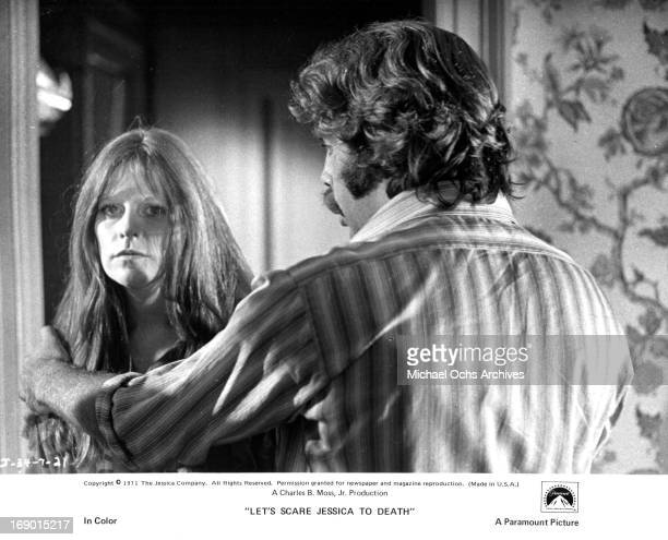 Mariclare Costello and Kevin O'Connor in a scene from the film 'Let's Scare Jessica To Death' 1971