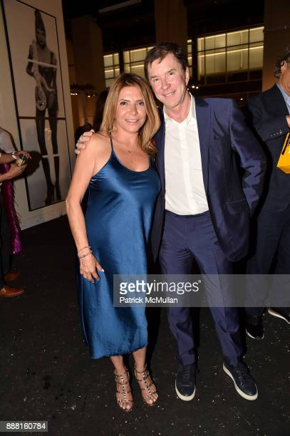 Maricruz Sainz and Marco Frachesen attend the Unveiling of White Square by Richard Meier Partners at Citigroup Center on December 7 2017 in Miami...