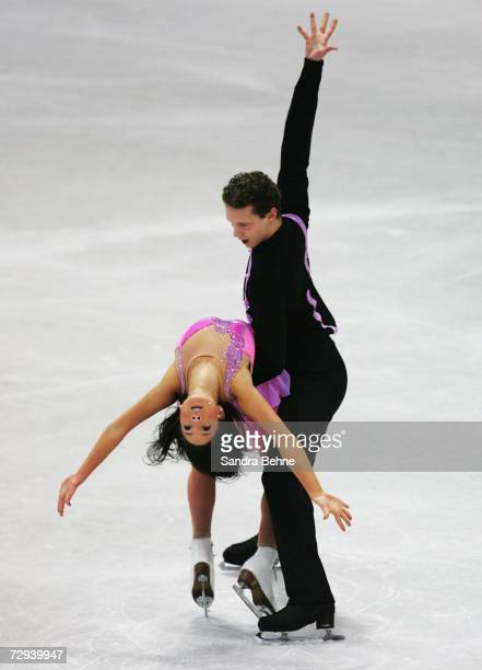 MariDoris Vartmann and Florian Just skate in the pair's free program during day three of the German Figure Skating Championships at the...
