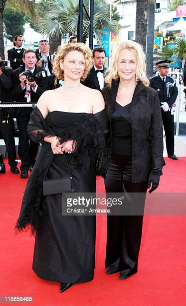 Marie Adam and Brigitte Fossey during 2004 Cannes Film Festival 2046 Premiere at Palais Du Festival in Cannes France