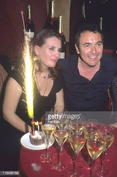 Marie Amelie Seigner and Fabien Ontoniente during Mumm's Bubbles and Roses Party April 24 2006 at Club Castel in Paris France