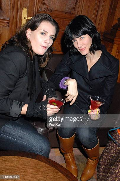 Marie Amelie Seigner and Mareva Galanter during Emma de Caunes Plays DJ at The Cointreaupolitan Party at Hotel Plazza Athenee in Paris France