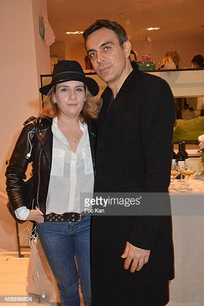 Marie Amelie Seigner and Melita Toscan Du Plantier's brother Dragan Nikolic attend the 'Stone for Bonpoint' New Jewellery Collection Cocktail Party...