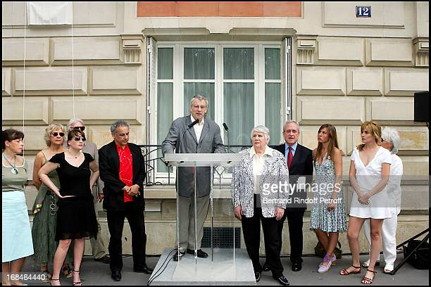 Marie Amelie Seigner Francis Perrin Marcel Bezonnet Francoise Seigner Jean Tiberi Mathilde Seigner and Catherine Lara at Commemorative Plaque Tribute...