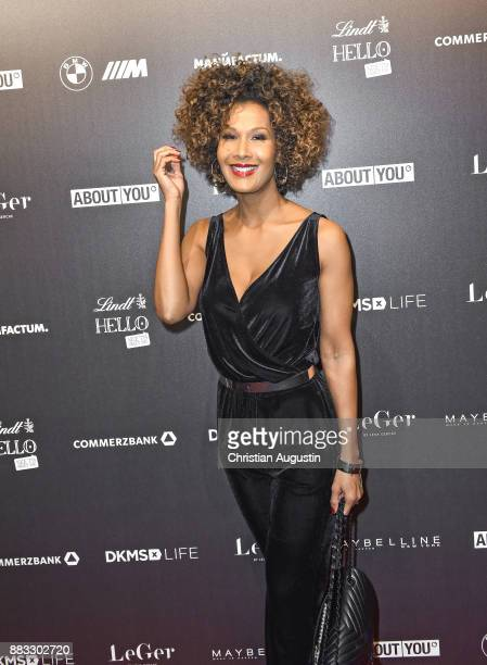 Marie Amihere attends the Christmas Dinner Party of Lena Gercke at the Bar Hygge on November 30, 2017 in Hamburg, Germany.