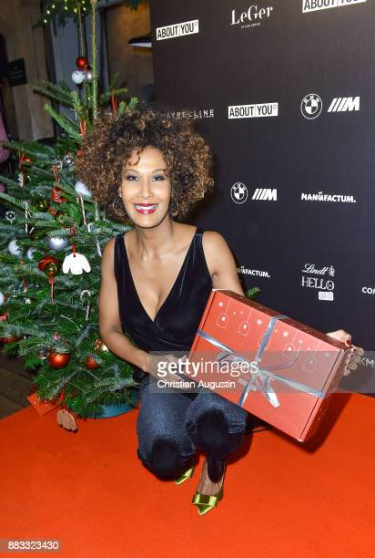 Marie Amihere attends the Christmas Dinner Party of Lena Gercke at the Bar Hygge on November 30 2017 in Hamburg Germany